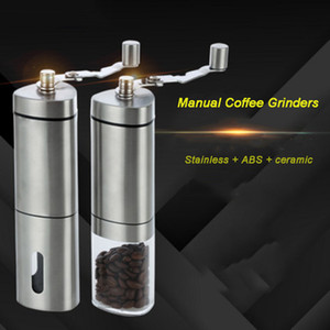 Manual Coffee Grinders Stainless Steel Adjustable Mini Handheld Coffee Bean Nut Pepper Spice Grinder Coffeeware Kitchen Tool