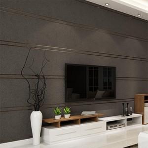 현대 간단한 스웨이드 대리석 줄무늬 벽지 벽 롤 PAPEL 드에서 Parede 3D 부직포 데스크탑 벽 종이 거실 침실
