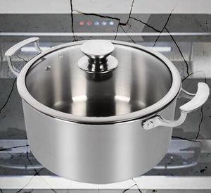 olla de cocción de titanio juego de ollas caldo de sopa olla de titanio puro uso doméstico 22 * 14 cm / 26 * 17 cm olla de caldo