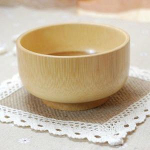 Çevre Dostu Doğal Bebek Bambu Bowl Food Grade Güvenliği bulaşığı Makarna Rice Bowl Bebek Çocuk Karşıtı Molası Güçlü Bambu Çanaklar DH1297 T03