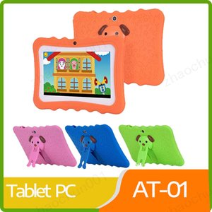 2019 Kids Brand Tablet Pc 7 Inch Quad Core Children Tablet Android 4.4 Allwinner A33 Google Player Wifi Big Speaker Protective Cover