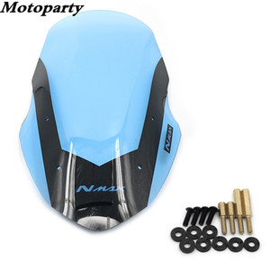 Für 16-18 NMAX155 NMAX 155 Modifiziertes Motorrad Windschutzscheibe Roller Stahl Erstarrung Windschutz Brown Windschotts
