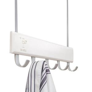 Over Door Hooks Multifunction Hanging Rack Wooden Coat Hanger Door Hook Rack Wall Hanging for Cloth Pants Hat Towel Punch F