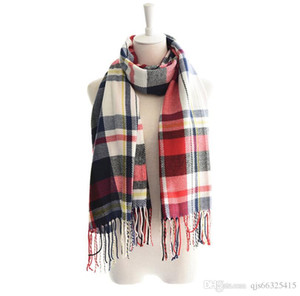 Autumn and winter new female fashion warm blanket tasseled plaid scarf scarf shawl colorful Chinese scarf wholesale free delivery QJS6632541