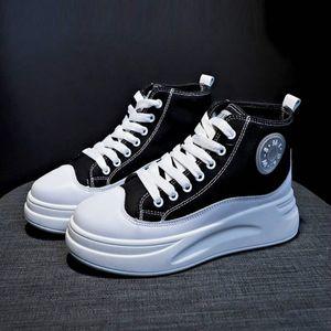 Sneakers femminile 2019 scarpe nuova collezione autunno marea netta Brown selvaggio versione coreana del donne della piattaforma della focaccina traspirante high-top scarpe di tela
