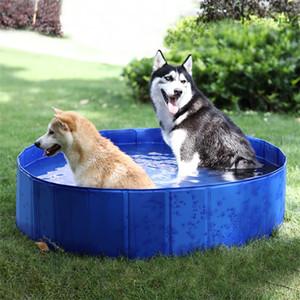 Pieghevole Cane Animali domestici di nuoto del bagno idromassaggio vasca esterna coperta pieghevole Bathing Pool per Cani Gatti bambini