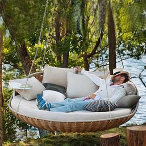 2020 venda quente pendurado ao ar livre recreativo balanço cadeira berço adulto varanda coberta cadeira doméstico berço preguiçoso rattan Nordic