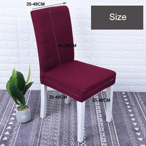 Оптовая Dining Отель стул Обложки Упругие дышащий Удобная моющийся Для Ресторан Свадьбы Банкетный отель Chair Cover DBC DH0634