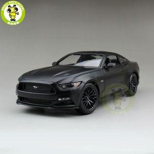 1:18 2015 Ford Mustang GT 5.0 Diecast Modelo de coche para regalos Colección Hobby Mae Black Maisto