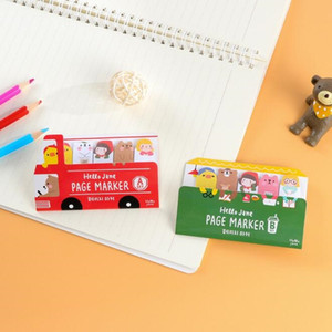 12PCS lot Kawaii Cartoon Friends Bus design mini convenient Memo Sticky Pad Notes students gift prize Stationery supplies