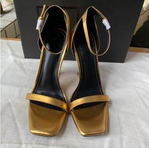 Alla moda nuovi tacchi alti in vernice per i sandali delle donne uniche lettering tacchi alti per le donne sexy talloni di nozze del vestito da sera + box