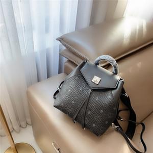 clásicomcmestilo de la venta caliente genuino de alta calidad de cuero de lujo superior de asas del hombro del embrague bolsos de compras bolsa de mochila