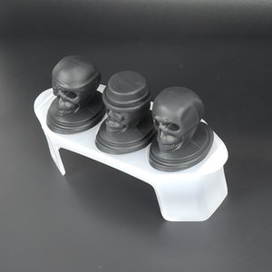 Crânio Ice Moldes 3 Set Halloween Party Grande Silicone Bandeja Cocktails Whiskey