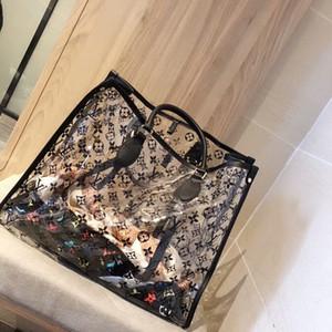 Fashion & Hot Shoulder Bag Clear Jelly Purse Women Transparent Handbag Clutch PUTote Oversize bags transparent package Two piece set h44
