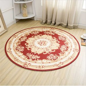 Classical European Style Soft Polyester Round Carpets For Living Room Bedroom Round Rug Home Floor Door Mat Decorate Home