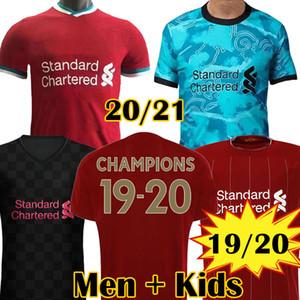 2020 KOP new Champions 2019 LVP Soccer Jersey Mohamed SALAH Blackout FIRMINO six times 6 Football Shirt VIRGIL MANE Kit maillots