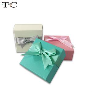 Bijoux Elegent Emballage Boîte de papier Accessoires Boîtes Boîte Collier Trinket Bague Boucle d'oreille boîte-cadeau Anneau Porte-20pcs / Lot