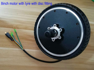 8inch brushless motor with disc fitting opening 87mm electric scooter electric bike MTB ATV part wheel with motor 24v36v48v250w