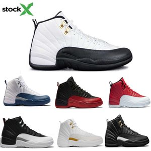 Designer shoes 12 12s OVO White Gym Red Dark Grey Basketball Shoes Men Taxi Blue Suede Flu Game CNY Sneakers size 47
