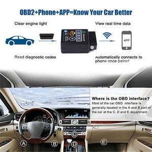 V2.1 미니 블루투스 ELM327 OBD HH OBDII Protocolos OBD2 자동차 진단 스캐너