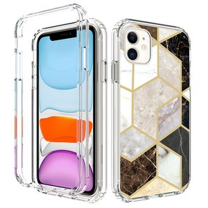 Newest Geometric Marble 2 Layers Defender Phone Case for Motorola Moto E6 Play One Action G8 Plus Hyper Shockproof Cover Wholesale Low Price