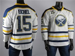 2018 Buffalo Sabres jerseys el mejor jugador del 15 Jack Eichel calidad Jersey hombres de la alta blanco bordado de hockey sobre hielo de los jerseys cosido S-2XL