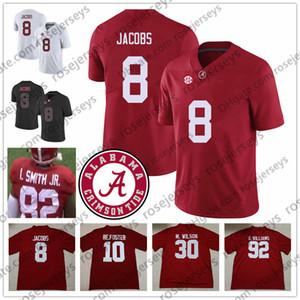 2019 Alabama Crimson Tide # 8 Josh Jacobs 10 Reuben Foster 30 Mack Wilson 82 Irv Smith Jr. 92 Quinnen Williams Red White Jersey