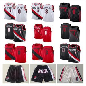Mens PortlandSenderoBlazers retroceso Damian Lillard 0 C. J. Clyde Drexler 22 00 camiseta de baloncesto 3 baloncesto McCollum Pantalones cortos