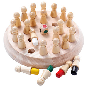 Kids Wooden Memory Match Stick Chess Game Fun Block Board Game Educational Color Cognitive Ability Toy For Children Y200704