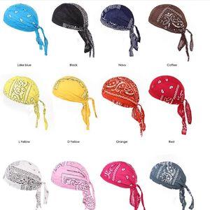 Korsan Şapka durags Bandana Turban Peruk Pamuk Amip Cap Açık Bisiklet Şapka Erkekler Kadınlar Kafatası Şapkalar Kafa Saç Aksesuarları B7491 Caps