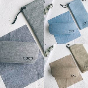 Fabric myopia fresh cotton linen men's and women's case case myopia glasses box simple creative glasses box