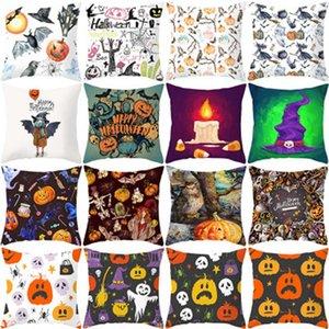 45 * 45cm Cadılar Cadılar Bayramı Hayalet Kabak yastık kılıfı customed kabak baskı yastıkları Cadılar Bayramı ZZA1107 dekorasyonlar kapak yastık kılıfı