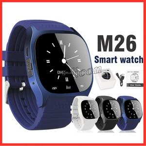 Moins cher M26 smartwatch Bluetooth Smart Watch Phone avec caméra Télécommande alarme anti-perte Baromètre montres intelligentes pour apple iphone X
