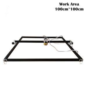 100cm * 100cm Mini 2500 / 5500MW 15W CNC Laser Engraving máquina DC 12 V DIY gravador desktop Madeira Router / cortador / impressora