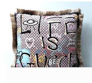 Almofada de luxo Almofadas Tampa Almofadas Alto grau atmosféricas fronhas de veludo elegante em almofada de ouro capas de almofadas do sofá