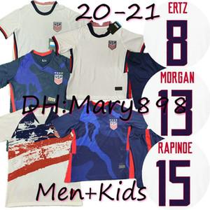 Amerika Ev Futbol Jersey 2021 ABD Morgan RAPINOE PULISIC LLOYD DEMPSEY ERTZ RAPINOE PUGH HEATH Futbol gömlek 2020 Amerika Birleşik Devletleri