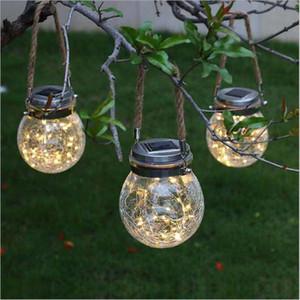 2019 Nouveau Lampe solaire extérieur Couleur Lustre étanche Cans Crack lampe en verre pelouse jardin Cour lampe