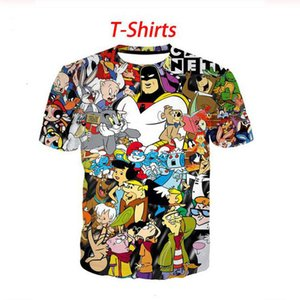 Summer style Shirt cartoon 90s Men Short Sleeve Tee 3D Printed T shirts Men Women Couples shirt S-7XL XS030