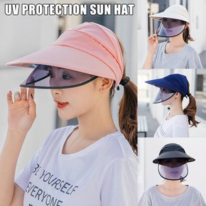 New Sun Visor Hat Full Face Cover Safety Shield Eye Protect UV Cap Широкий Брим XD88