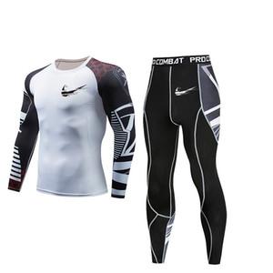 Trajes deportivos de compresión Hombres Camisa de manga larga de secado rápido Pantalones Conjunto de running para hombre Gimnasio Fitness Apretado Ropa deportiva al aire libre Ropa