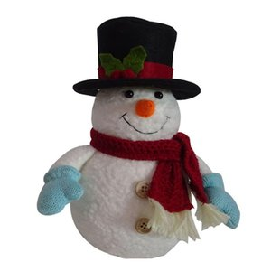2 4PCS LED Light Toy Snowman Mini Cute Hat Penguin Christmas Electronic Plush Toys for Home Party Decoration Christmas Gift