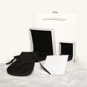 Высокое качество оригинальный дисплей ювелирных изделий упаковка Box Set для Pandora Шарм браслет кольцо ожерелье подарочные коробки бумажные пакеты полировальная ткань