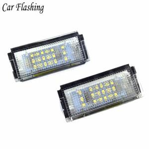 2pcs White LED Light Lights per BMW E46 4D 323i 325i 328i 6000K 12V Numero lampadina