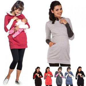 2en1 de maternidad Embarazo y discreta de enfermería con capucha Top Fácil lactancia materna Nueva