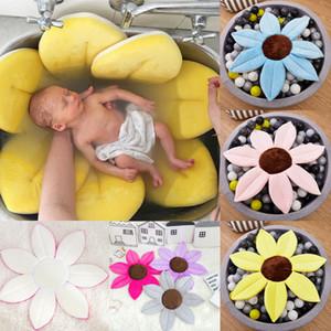Sıcak Satış Yeni Moda Çocuk Erkek Kız Blooming Küvet Mat Baby Bebek Çiçek Yıkanma Lavabo Yastık Güvenlik yastıklı