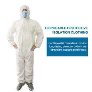 Одноразовый защитный халат крытый открытый комбинезон Велоспорт защитная одежда с капюшоном для мужчин женщин анти-туман