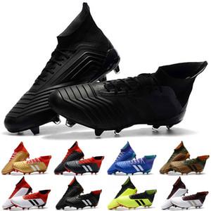 Dantel-up Ace Predator 18.1 FG Futbol Kramponları Chaussures De Futbol Çizmeler Mens Yüksek Üst Futbol Ayakkabıları En İyi Kalite Predator 18 futbol ayakkabıları
