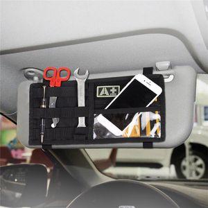 Открытый Автомобиль Автомобиль Солнцезащитный козырек Организатор держатель Охота автомобилей карты билетов Аксессуар хранения Molle сумка