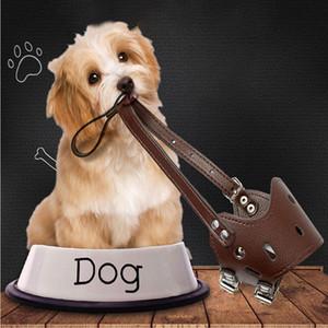 كلب الفم الغلاف التهيأ مكافحة وقف مضغ قناع قابل للتعديل الكلب واقية قناع مكافحة النباح كمامة PU مكافحة العض اللوازم الجرو حجم XS-XL