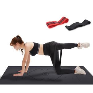 Nicht Slipping Trainings-Widerstand-Bands Striped Exquisite Wohnung elastische Übungs-Loop-Eignung-Yoga-Pull-Band-Seil 64 74 84cm 9 8xw3 E19